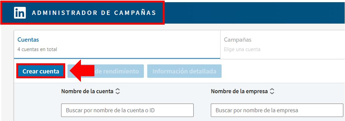 Linkedin Insight Tag - crear cuenta publicitaria2