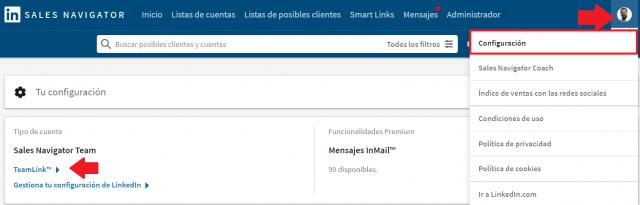 Linkedin sales navigator - Teamlink