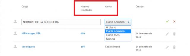 Linkedin sales navigator - crear alertas de búsqueda