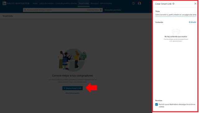 Linkedin sales navigator - los smart links 2