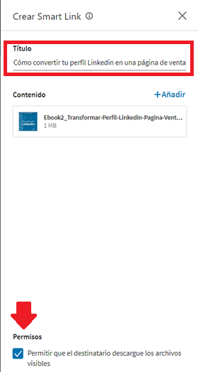 Linkedin sales navigator - los smart links 5
