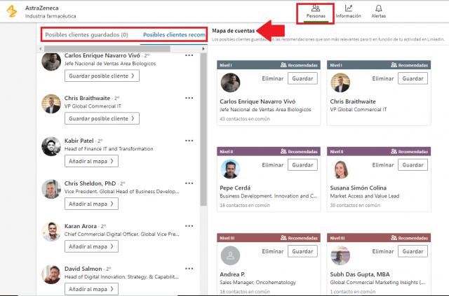 Linkedin sales navigator - mapa de cuentas