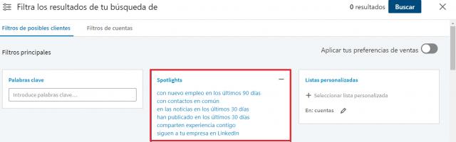 Linkedin sales navigator - spotlight