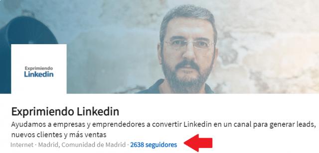 Estrategias para aumentar tu visibilidad en Linkedin - Seguidores página de empresa2