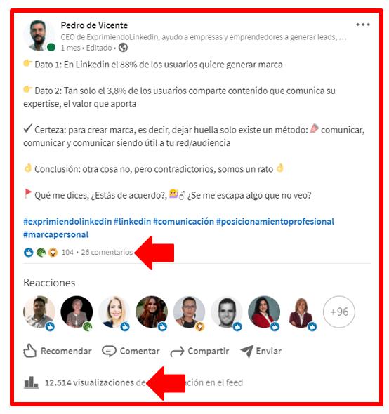 boost en Linkedin cómo aumentar el alcance de tus publicaciones 9