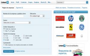 Opciones avanzadas búsqueda empresas en Linkedin